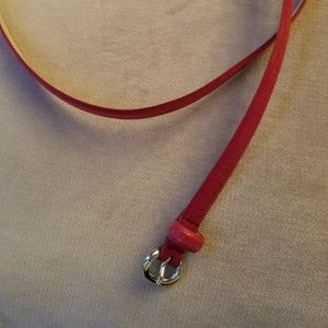 Accessories - Red belt, thin size Large